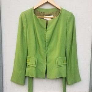 New! Zara | Green Structural Blazer